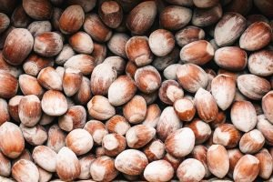 toasted hazelnuts from Piedmont